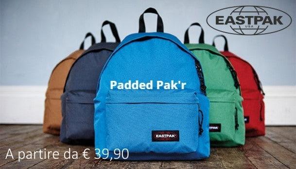 Eastpak shop in shop, zaini padded a partire da € 39,90