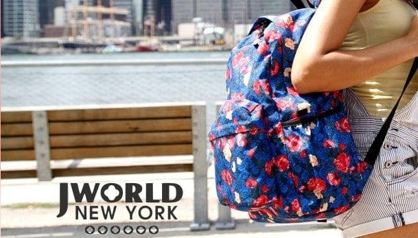 Jworld shop in shop, zaini direttamente dall'America