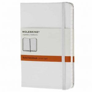 Taccuino Moleskine a Righe Piccolo Rigido Bianco  - 52926