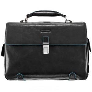 Cartella Piquadro P/PC e iPad/iPad Air 2 tasche 1 Chiusura Nero Linea Blue Square - CA1066B2/N