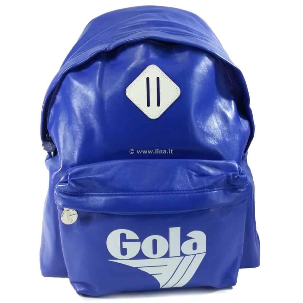 eac64d4141 Zaino Scuola Gola Harlow PU Reflex Blu Bianco - CUB267EW. In offerta