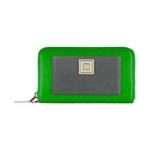 Portafoglio Donna Con Porta iPhone5 In Pelle Piquadro Verde Verde Rosa - Linea Ofelia - AC3131WO1/VERO