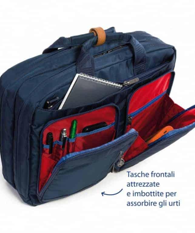 gamma completa di specifiche ultimi progetti diversificati migliore vendita Cartella Zaino Porta PC 15.6 Bicolore Blu Verde - 406001430/BC8