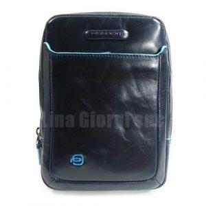 Borsello Mini Uomo in Pelle Piquadro Blu Notte Linea Blu Squ Linea Blu Square - CA3084B2/BLU2