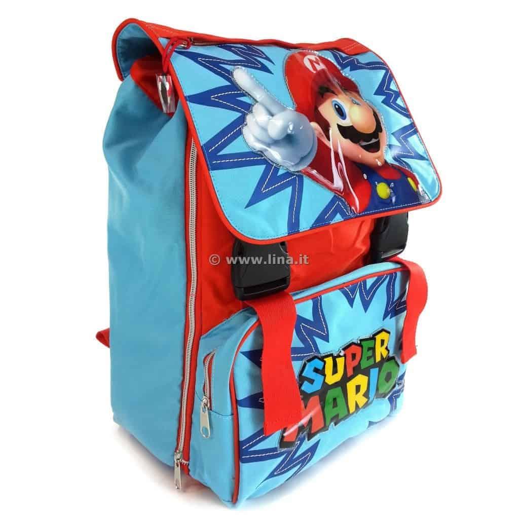 27c3ad796a Zaino Scuola Estensibile Super Mario Kids Azzurro Arancio - 01060628.  01060628-1