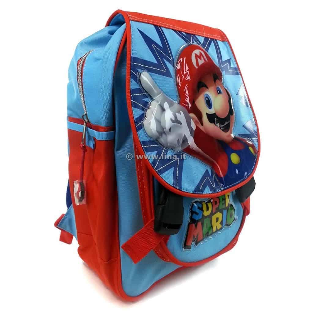 25c45526c1 Zaino Scuola Asilo Junior Super Mario Kids Azzurro Arancio - 01060629.  01060629-1