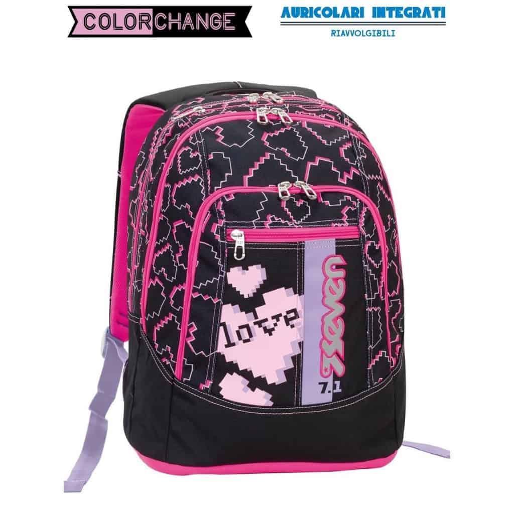 design senza tempo b81bd 37949 Zaino Seven ADVANCED love heart nero - 201001658-899
