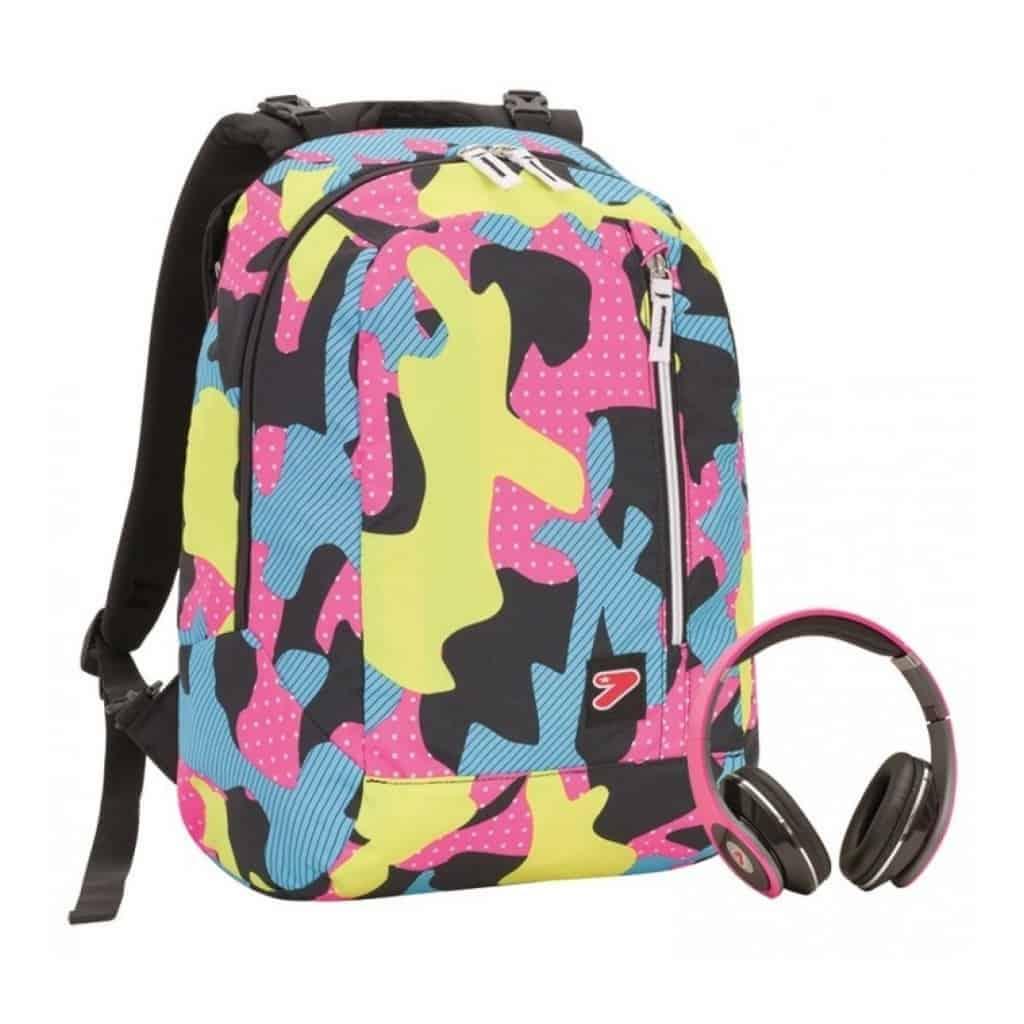 Rosa Zaino Cuffie Double Omaggio 382 Camouflage Seven 201001681 8nkNPwXO0