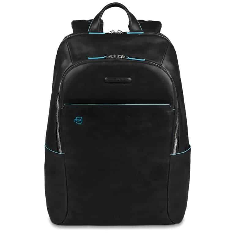 Zaino piquadro porta pc in pelle blue square nero ca3214b2 n - Zainetto porta pc piquadro ...