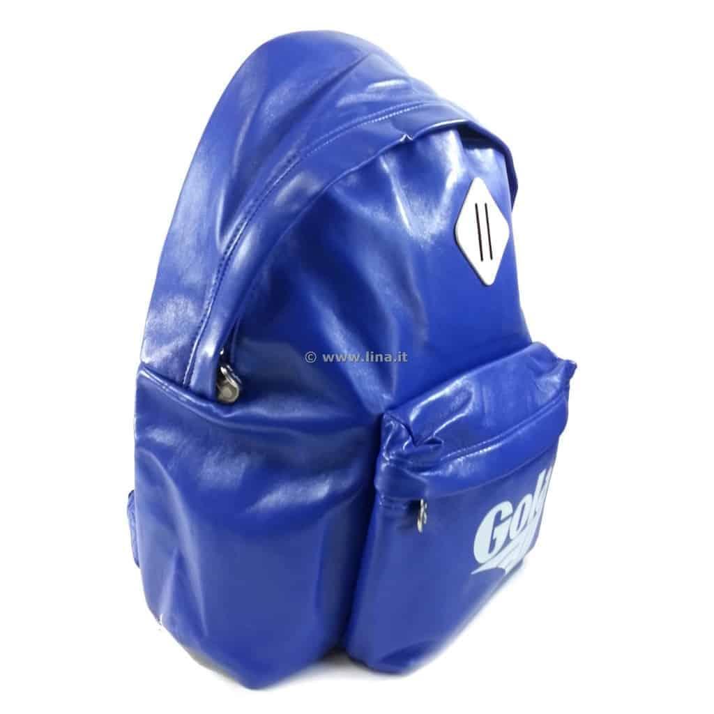 6596686e55 Zaino Scuola Gola Harlow PU Reflex Blu Bianco - CUB267EW