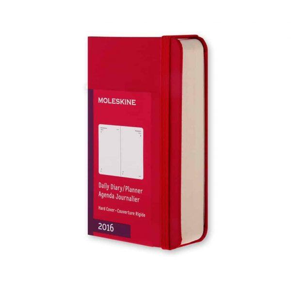 Agenda giornaliera 2016 moleskine 12 mesi rossa 6 5x10 5 for Agenda moleskine 2016 2017