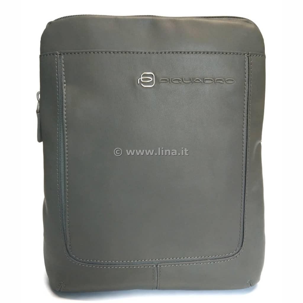 Borsello Piquadro uomo porta iPad pelle Vibe grigio - OUTCA1358VI GR 596d037ae23