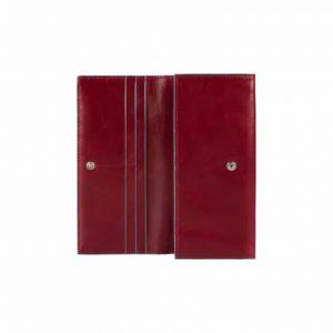 Portafoglio Donna Due Soffietti Con Patta In Pelle Rosso Piquadro Linea Blue Square - PD3211B2/R