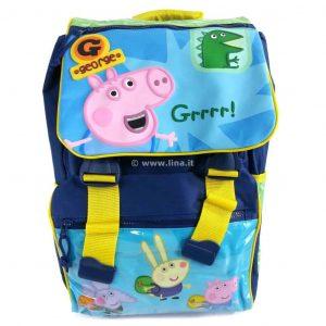 Zaino Scuola Estensibile Primino Peppa Pig George 35x26x12 Scuola 2014/15 - PEP140951