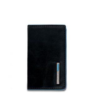 Portabiglietti da visita Piquadro pelle Blue Square nero  - PP1263B2/N