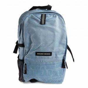 Zaino University Smemo Inside Due Tasche Azzurro  - SMEMO29476