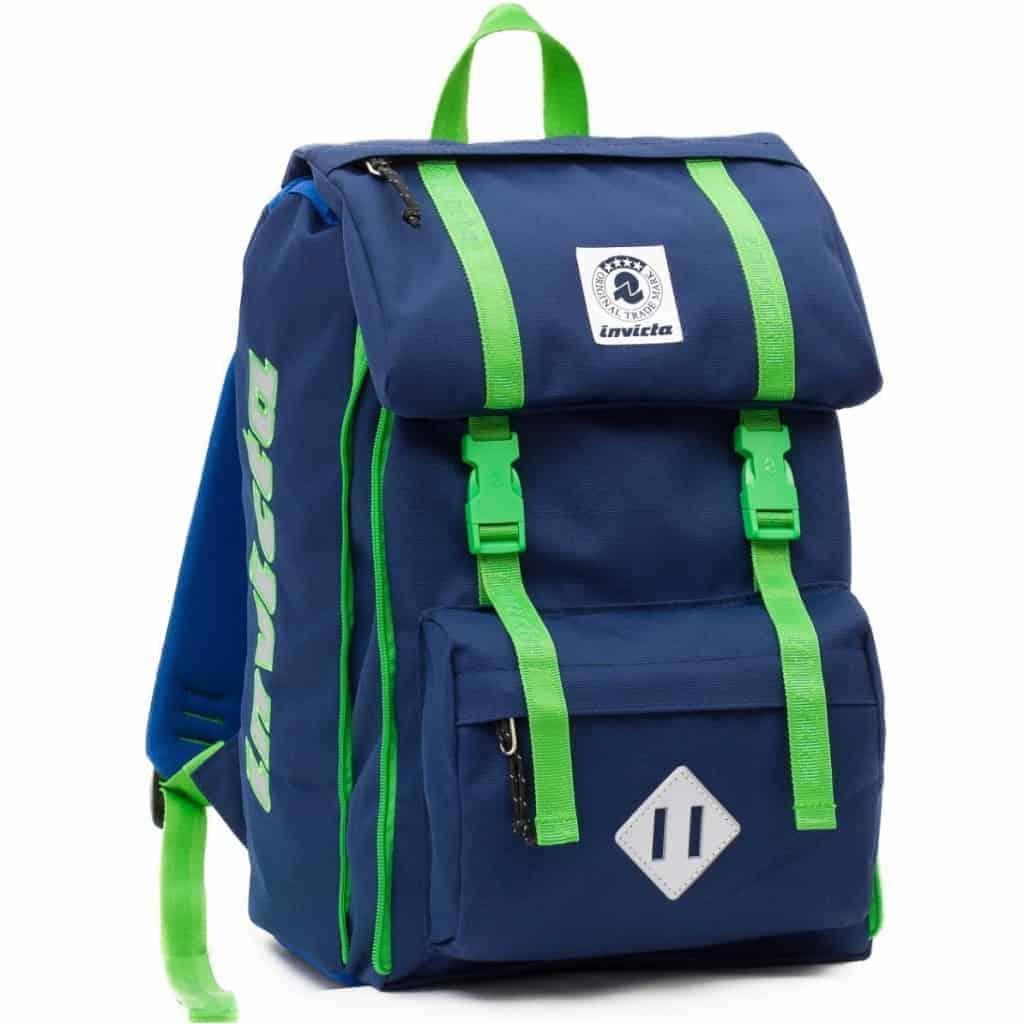 28c884131d Zaino Invicta SQUARE estensibile plain blu verde - 206001643-550
