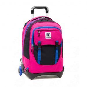 Zaino Invicta Trolley PLUG BICOLOR rosa nero blu  - 206001645-BD9