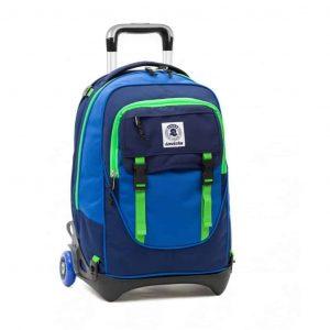Zaino Invicta Trolley PLUG BICOLOR verde blu  - 206001645-BE1