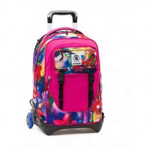 Zaino Invicta Trolley PLUG FANTASY blu rosa  - 206001649-FH3