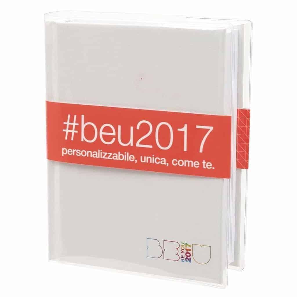 Diario Be U 2017 Standard 18x13 Bianco Be900000