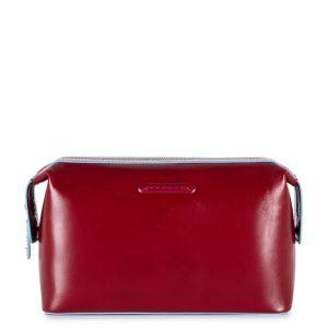 Beauty Piquadro da viaggio in pelle Blue Square rosso  - BY3851B2/R