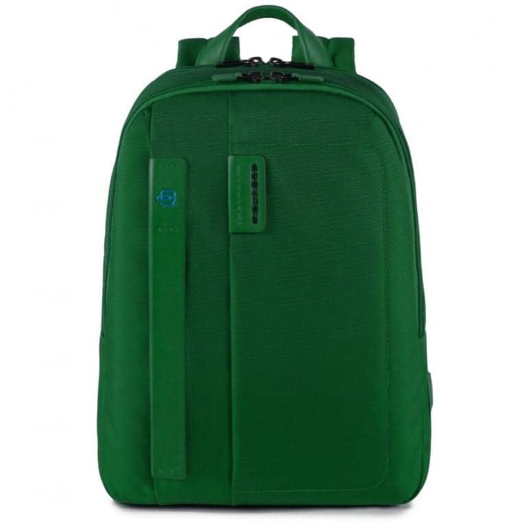 Zaino piquadro porta pc tessuto e pelle verde ca3869p16 ve - Zainetto porta pc piquadro ...