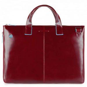 Cartella Piquadro sottile porta pc pelle Blue Square rosso  - CA4021B2/R