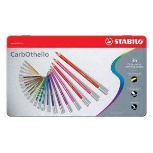 Matite CarbOthello Stabilo 36 Colori Confezione Metallo  - 1436