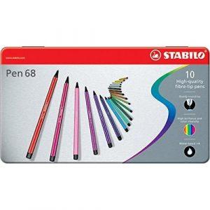 Pennarelli Pen 68 Stabilo 10 Colori Confezione Metallo  - 6810-6