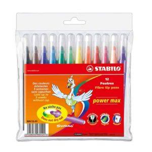 Stabilo Power Max astuccio 12 colori assortiti  - 980/12-02