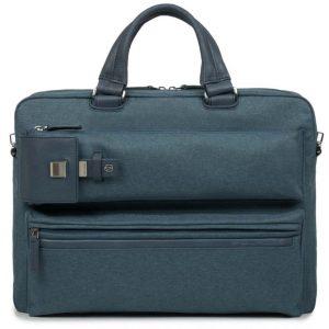 Cartella Piquadro porta pc e iPad tessuto e pelle Yukon blu  - CA3961S89/BLU