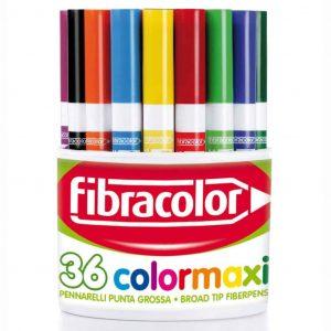 Barattolo Pennarelli Fibracolor COLORMAXI 36 colori