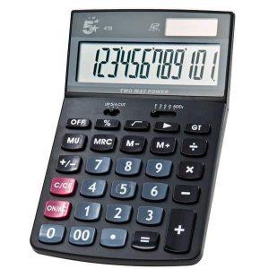 Calcolatrice 5Star LCD 12 cifre batterie e solare