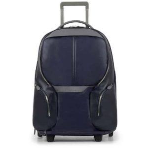 Trolley Piquadro cabina porta pc e iPad pelle Coleos blu