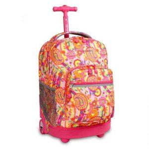 Zaino Jworld Trolley Sunrise Pink Paisley