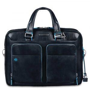 Cartella Piquadro sottile porta pc pelle Blue Square blu – CA2849B2 BLU2 a3ad3983c70