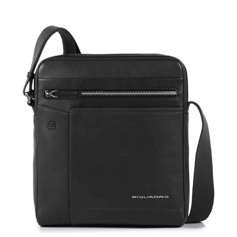 Borsello Piquadro uomo porta iPad pelle Cary nero. TRASPORTO GRATIS c3605d597ec