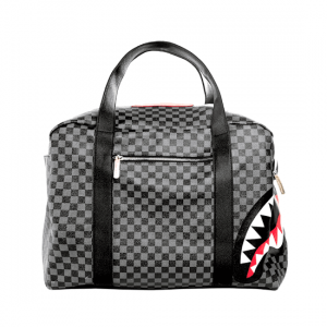 Borsone sportivo Sprayground Sharks In Paris (Grey Checkered)
