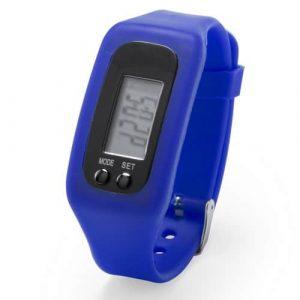 Orologio Contapassi in silicone blu