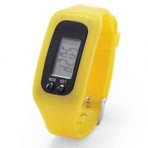 Orologio Contapassi in silicone giallo