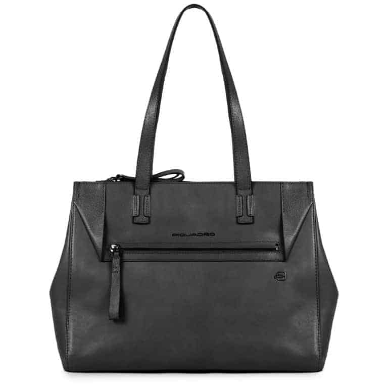 Piquadro Shopping Pan Nero Pelle Borsa Donna In jLARqS35c4