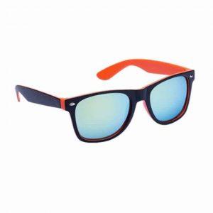 Occhiali da Sole protezione UV400 con lenti a specchio arancio