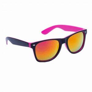 Occhiali da Sole protezione UV400 con lenti a specchio fucsia