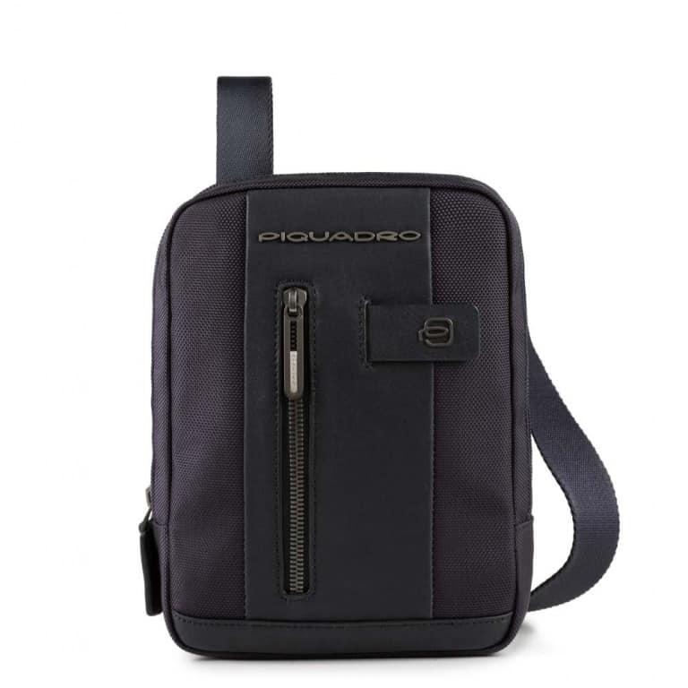 8a805b30a12d6 Borsello Piquadro porta iPad mini pelle e tessuto Brief blu. TRASPORTO  GRATIS
