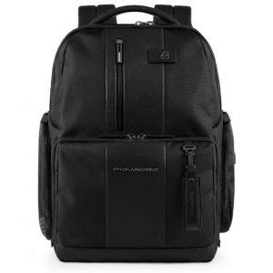 Zaino Piquadro fast-check porta pc/iPad pelle e tessuto Brief nero