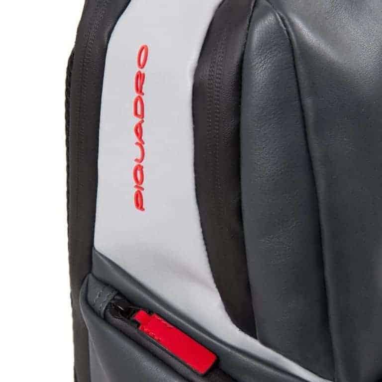 071864a612e521 Zaino Piquadro fast-check porta pc in pelle Brief grigio nero.  CA4550BRBMGRN-1