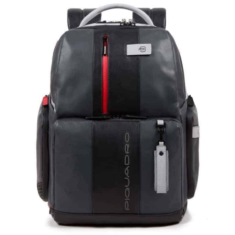 Zaino Piquadro fast-check porta pc in pelle Brief grigio nero. TRASPORTO  GRATIS 85263ce8a21