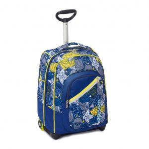 Trolley SEVEN Fit Boy LUCKY 35 Lt 2in1 Zaino con spallacci a scomparsa Blu