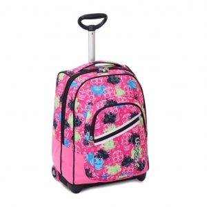 Trolley SEVEN Fit Girl WATERCOLOR 35 Lt 2in1 Zaino con spallacci a scomparsa Rosa
